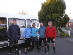 Our crew, from L to R, Mike, me, Mandy, Cam and Dave